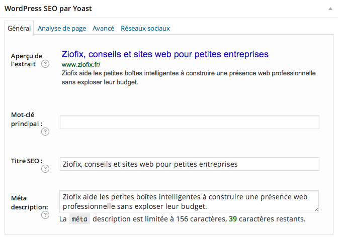 conseils seo titre description site web