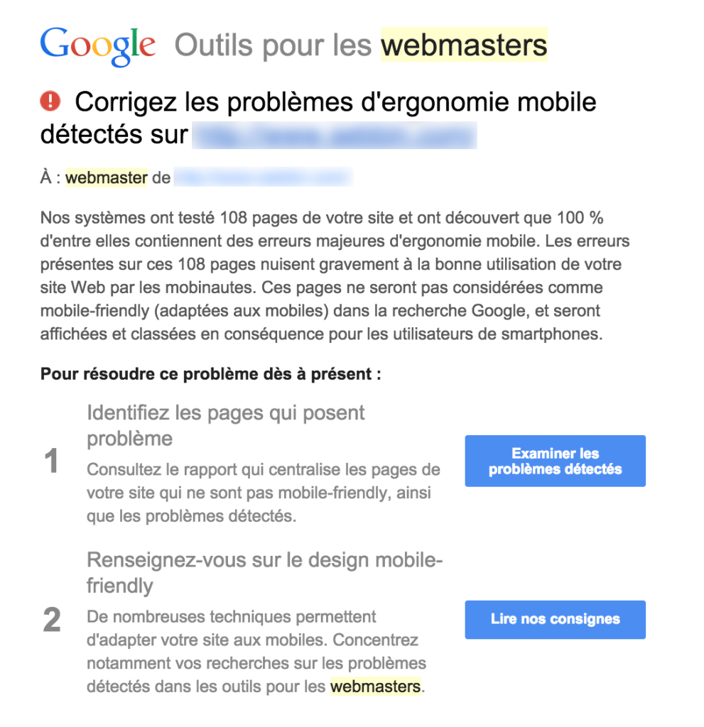 google webmaster tools site mobile friendly
